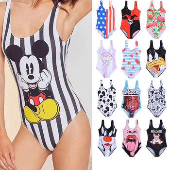 17 Pattern Cartoon Styles Women One Piece Swimsuit 3D Print Swimwear One-Piece Suits full suit for swimming  one piece swimsuit strappy palm leaf print one piece swimsuit