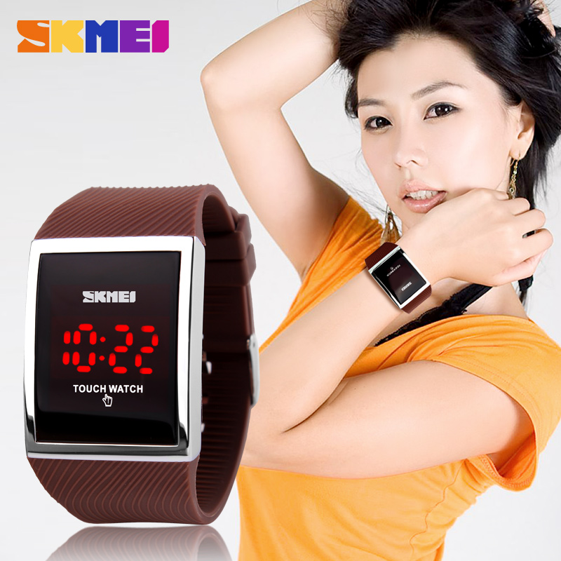 Mode Heren Dames Elektronisch LED Touch Candy Jelly horloge Siliconen - Dameshorloges - Foto 5