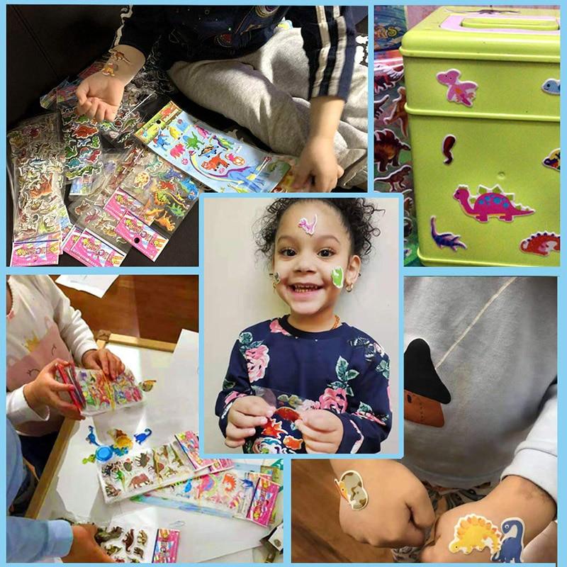 Kids Stickers 40 20 Different Sheets 3D Puffy Bulk Stickers for Girl Boy Birthday Gift Scrapbooking Teachers Animals Cartoon 5