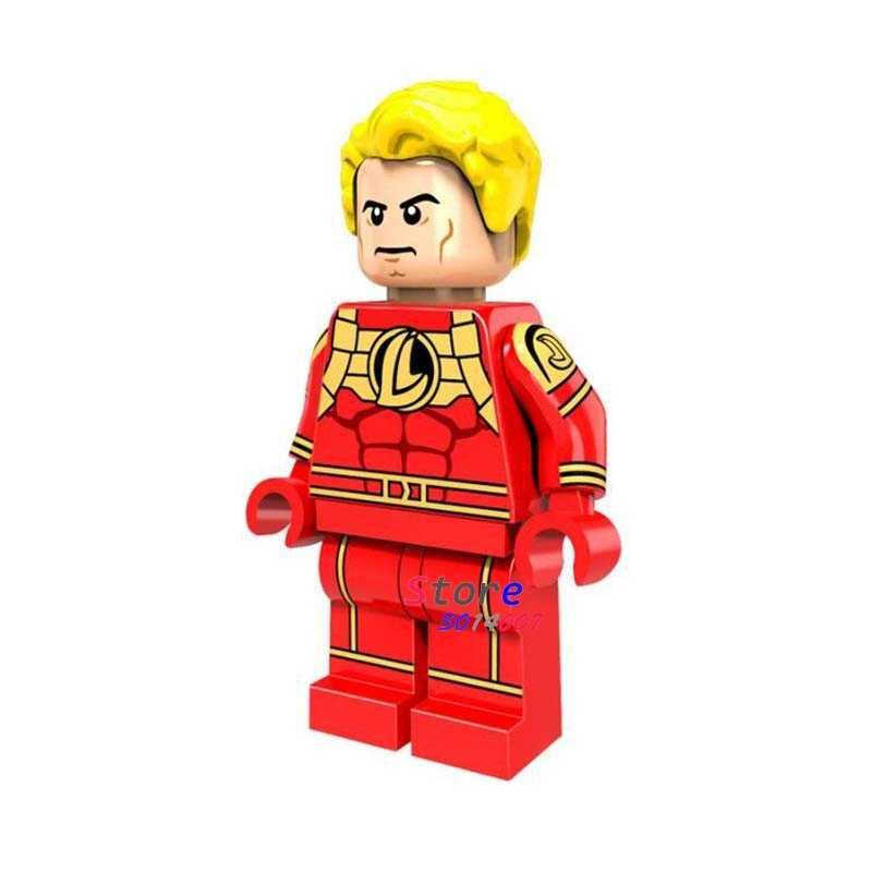 Enkele super heroes marvel dc comics Vier Human Torch bouwstenen modellen bricks speelgoed voor kinderen kits