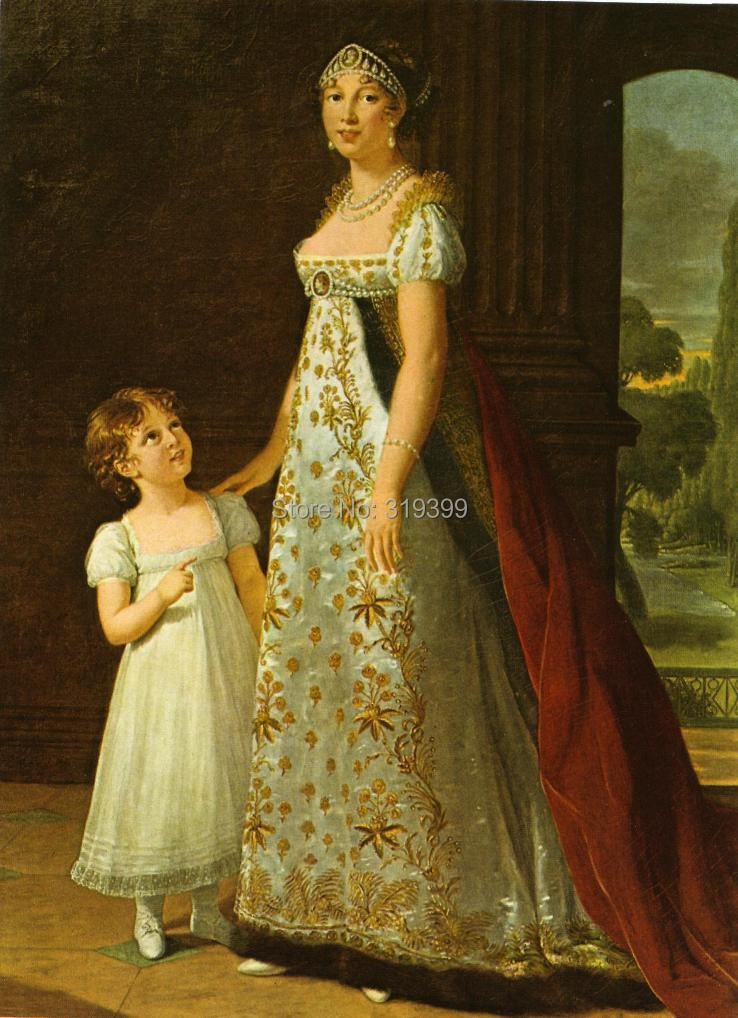 portrait-of-caroline-murat-with-her-daughter-letizia-1807  by Louise Elisabeth Vigee Le Brun,handmade oil painting reproductionportrait-of-caroline-murat-with-her-daughter-letizia-1807  by Louise Elisabeth Vigee Le Brun,handmade oil painting reproduction