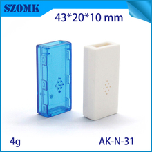 1 pc  USB power amplifier shell Hot selling abs plastic material enclosures for 43x20x10mm Blue transparent usb box