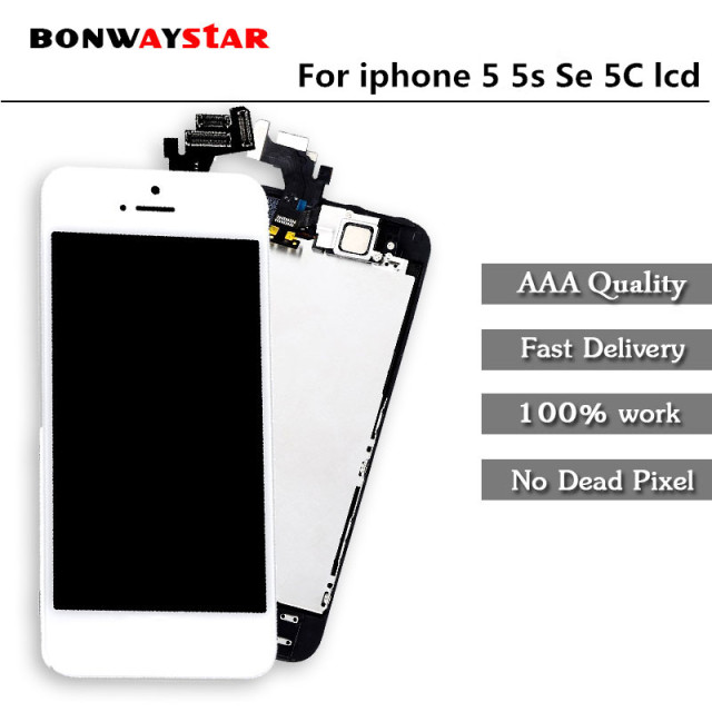 586e7292b11cc8 Full LCD Ecran Assembly For iPhone 5 Se LCD Display For iphone 5s 5C Touch Screen  Replacement+Front Camera+Home button