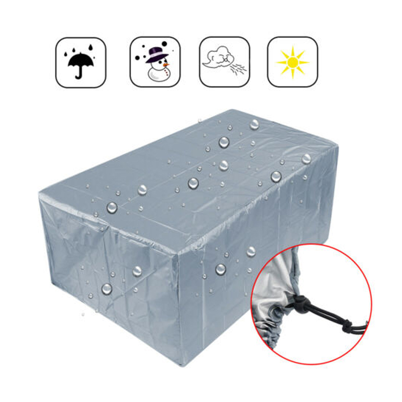 Waterproof 210T Furniture Cover For Garden Rattan Table Cube Chair Sofa All-Purpose Dust Proof Outdoor Patio Protective Case New