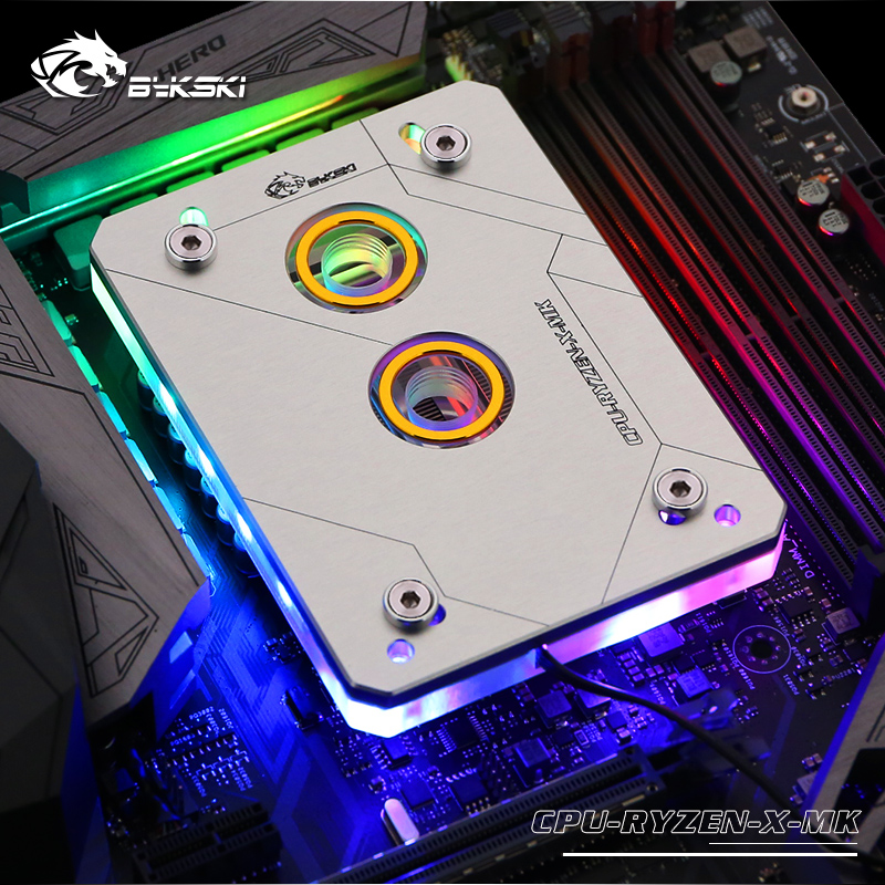 CPU RYZEN X MK V2 BYKSKI new arrival CPU Water Block fit AM3 AM3 AM4 computer