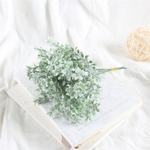 Christmas artificial plant Flocking antlers leaf Background decoration Flower arranging accessories Fake Home party decor