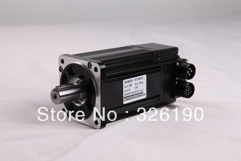 60mm Flange Size 0.4kw 1.3Nm 3000rpm Incremental Encoder AC Servo Motor