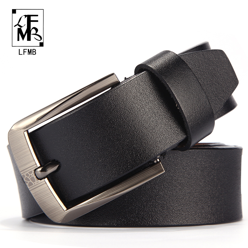 [LFMB]leather Men Belt Male Genuine Leather Strap Trousers Male Strap Genuine Leather Belt Men Ceinture Homme Cuir Veritable
