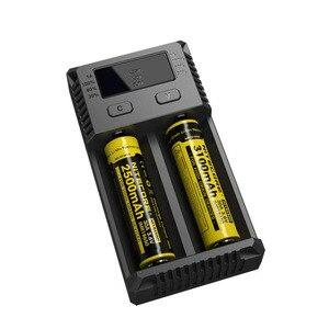 Image 2 - Nitecore original novo i2 intelli carregador de bateria universal rápido para aa aaa li ion 26650 18650 14500 baterias de carregamento