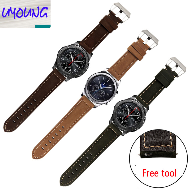 UYOUNG Samsung S3 Classic Gear leather watch with Frontier accessories head layer calf leather