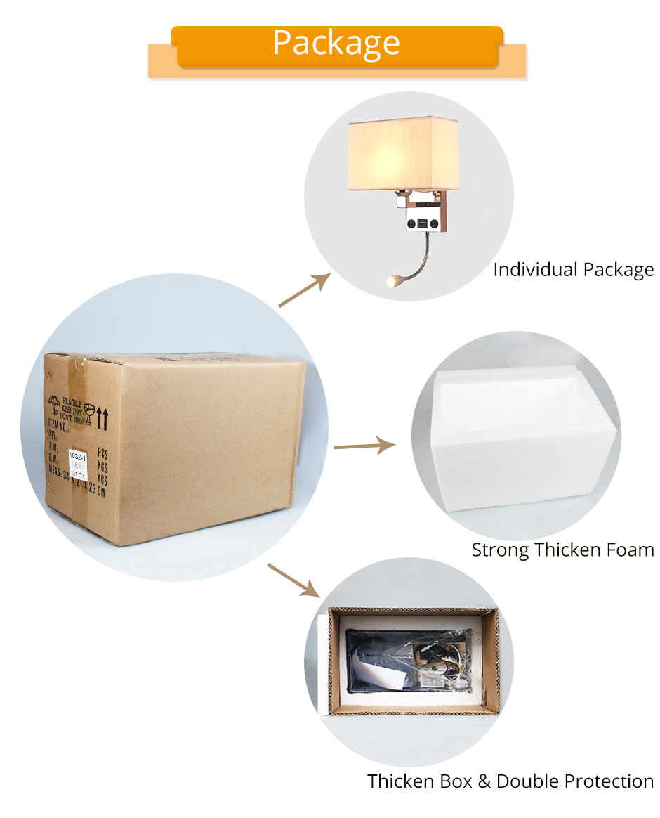 LED E27 Bulb Wall Light Modern Bedroom Bedside Hotel Living Room Wall Sconce Lighting 7W 85-265V Indoor Night Lighting Fixture (1)