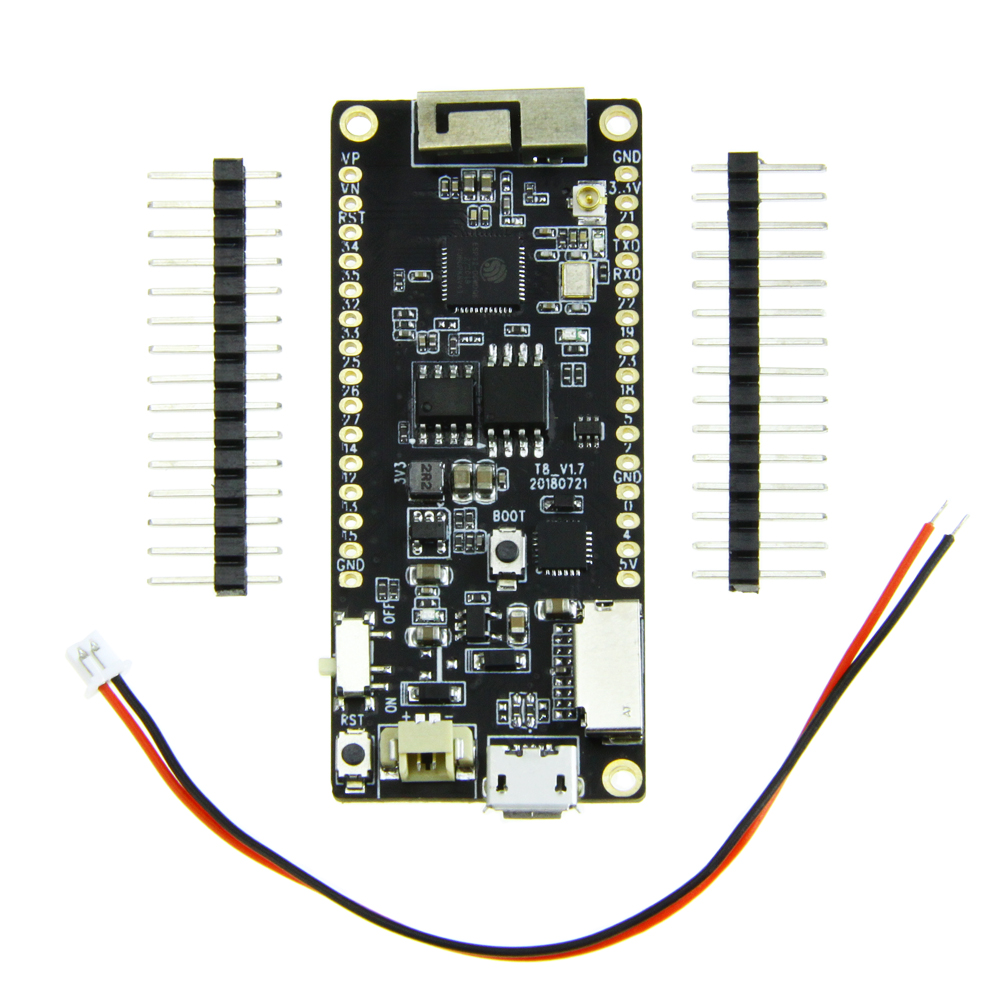 US $9 0 |T8 V1 7 TTGO ESP32 4MB PSRAM TF CARD 3D ANTENNA WiFi Module  Bluetooth ESP32 WROVER Micropython-in Replacement Parts & Accessories from