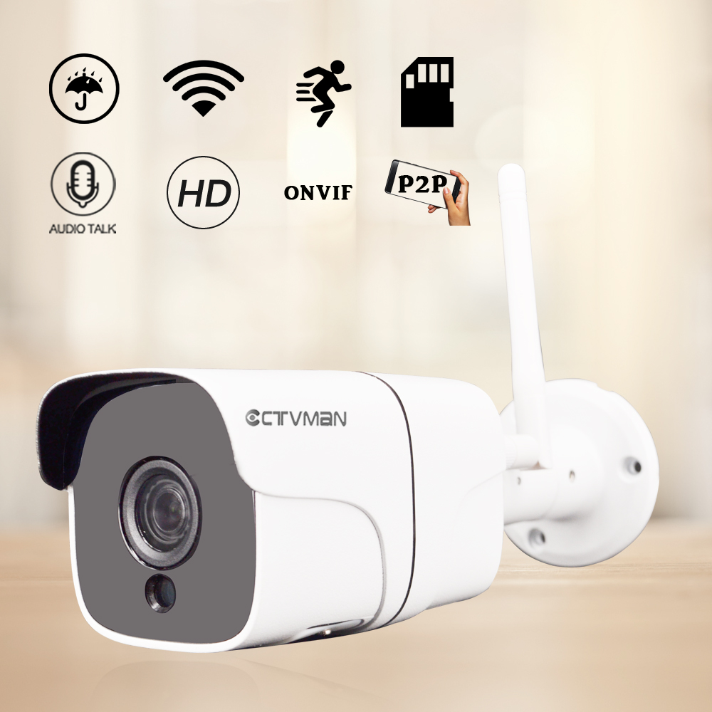 CTVMAN Ip Esterna Wifi Telecamere di Sorveglianza 1080 p 3mp 5mp Impermeabile Senza Fili SD Card Audio P2P Visione Notturna Wi-Fi Cam