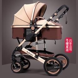 O carrinho de bebê do quadro da liga de alumínio pode deitar-se para baixo o amortecedor dobrável