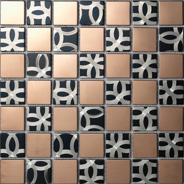 Edelstahl Metall Mosaik Fliesen Kuche Backsplash Badezimmer Dusche