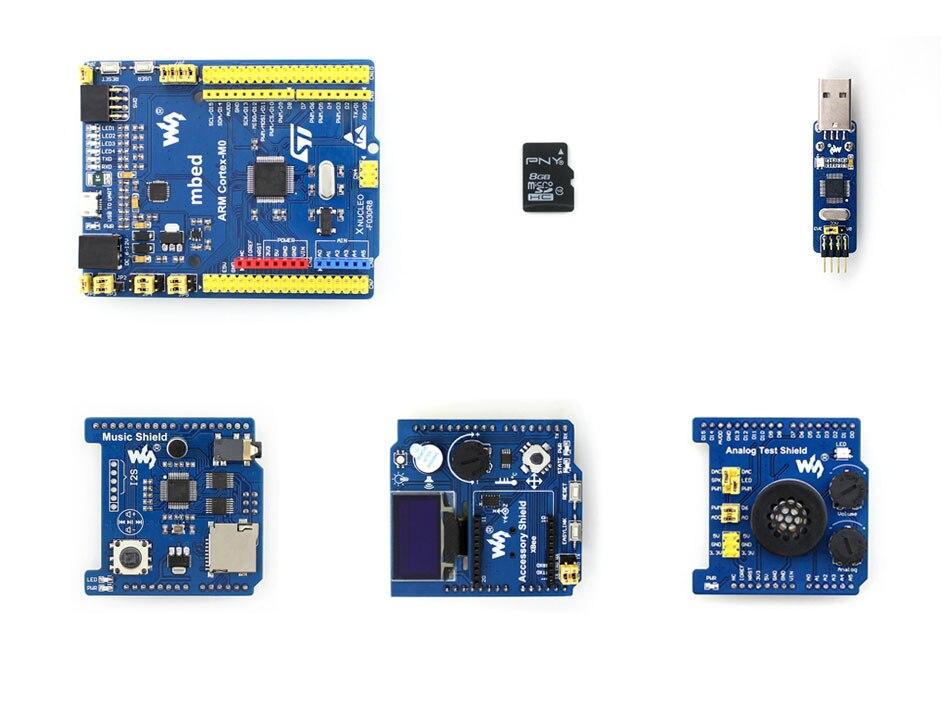 XNUCLEO-F030R8 Package B STM32 Development Board Supports Arduino Compatible with NUCLEO-F030R8 module xilinx xc3s500e spartan 3e fpga development evaluation board lcd1602 lcd12864 12 module open3s500e package b