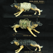 3 Colors 1/6 German Shepherd Police Dog Models for 12 Action Figures Bodies
