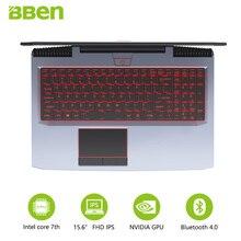 "BBEN G16 أجهزة الكمبيوتر المحمولة الألعاب 15.6 ""IPS قبل التركيب Win10 اللوحي GTX1060 إنتل كور i7 7700HQ 8G/16G/32G RAM 256G/512G SSD ، 1 تيرا بايت/2 تيرا بايت HDD"