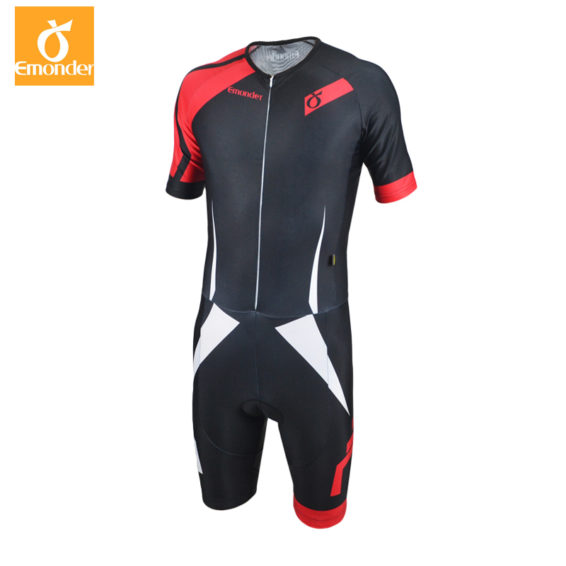 EMONDER Pro Team Triathlon Suit Men Cycling Clothing Jumpsuit Bike Jersey Sets Ropa Ciclismo Bike Sports Wear Riding Equipment