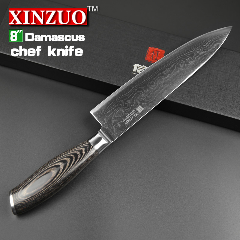 "Aliexpress.com : Buy 8"" inch chef knife 73 layers Japan Damascus ..."