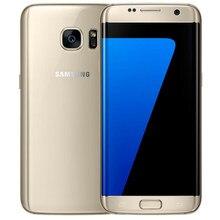 Desbloqueado original samsung galaxy s7 edge g935 telefone celular eua versão 4g 5.5 polegada 12.0 mp 4gb ram 32gb rom, frete grátis