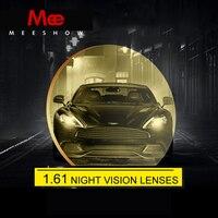 1.61 asp樹脂レンズナイトレンズ黄色レンズの夜運転用偏光mr-7カスタムレンズ近視