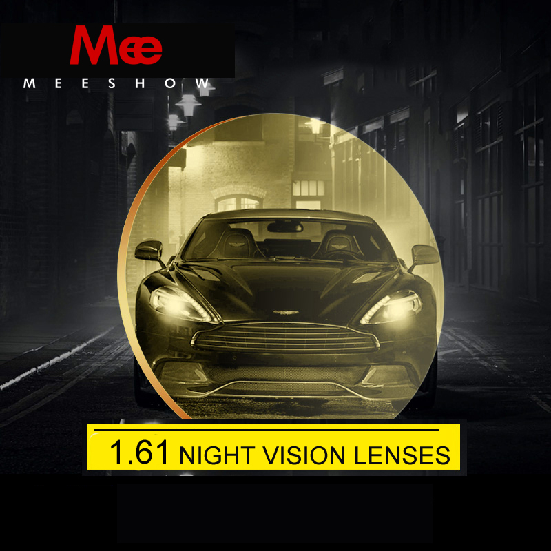 1.61 ASP Resin lenses Night Lens yellow lenses of Night driving for Polarized MR-7 CUSTOM Lens for Myopia Presbyopia or Reading