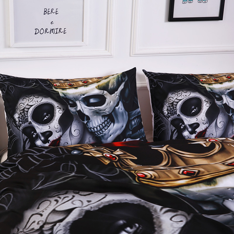 skull bedding sets 3