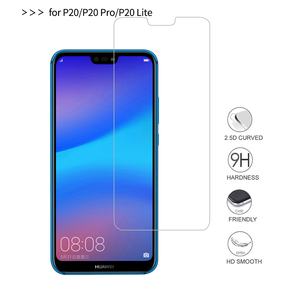 0.26mm 9H Hardness Protector GlassFor Huawei P20 Lite Tempered Glass Huawei P20 Pro Tempered Glass High Quality Safety