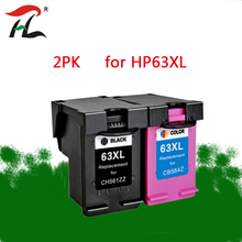 YLC 2PK For HP63XL  63XL hp63 Remanufactured Ink Cartridges for HP Deskjet 1110 1112 2130 2131 2132 2133 2134 3630 printer