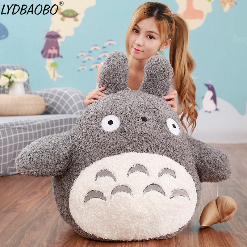 1pc 60-70cm Giant Cute wedding press doll children birthday girl Kids Toys Totoro doll Large size pillow Totoro plush toys dolls 45cm 60cm 70cm large creative pea pod pillow toy giant totoro plush cushion children s day gift birthday present female