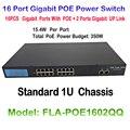 16 портов 10/100/1000 м Быстрый Ethernet переключатель поэ IEEE 802.3af Plus 2ch 1000M UP Link 16CH POE переключатель для POE Onvif IP камеры
