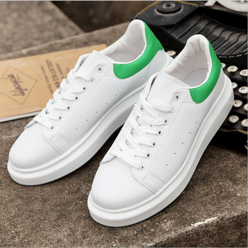 Size 35-44 Spring Autumn Genuine Leather causal shoes Women White Shoes Fashion  Footwear Flats Pu Slip on Casual Shoes Women free shipping small size 38 39 44 men spring autumn flats boy genuine leather shoe students fashion trend lace up shoes non slip