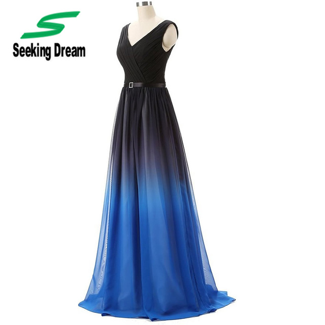 Vestido azul degrade