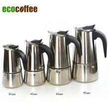 Acero inoxidable Moka Espresso Latte Percolator estufa cafetera olla