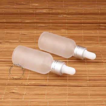 30pcs/Lot Wholesale Glass 30ml Essential Oil Bottle Frosted Dropper Pot 1OZ Women Cosmetic Container 30 Gram SampleTest Jar