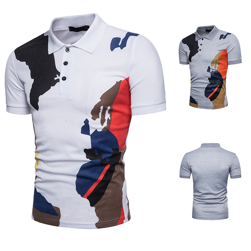 Men's Fashion  men brand Summer Short Sleeve Camouflage clothing Polo homme coton print Tops