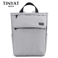 TINYAT Men Travel Shoulder Backpack 14 Inch Laptop Backpack Brand Casual Canvas Backpack Women Rucksacks School