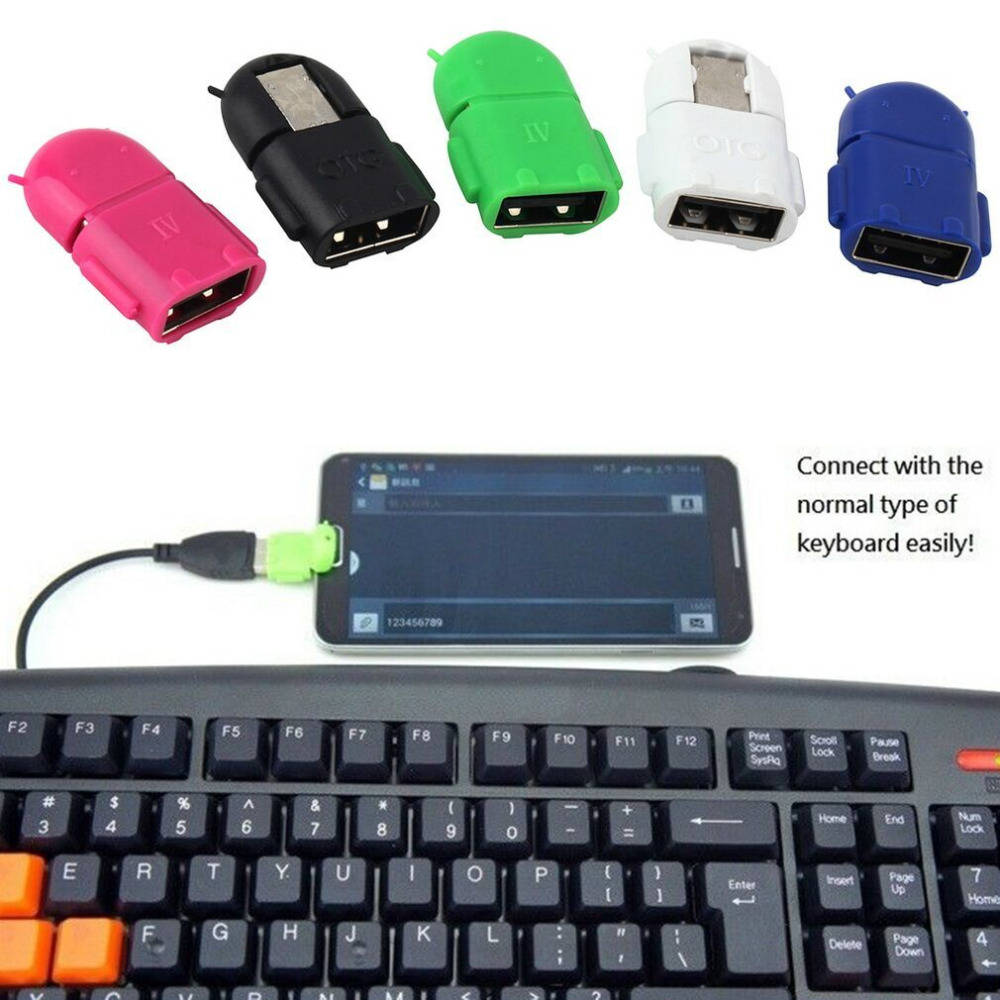 1pcs Hot Micro USB 2.0 Host Male to USB Female OTG Adapter For Android Tablet PC Phone Wholesale