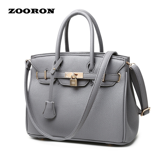 Zooron 2017 New Fashion Women Leather Handbag Price Black Shoulder Bag Pink Style Of