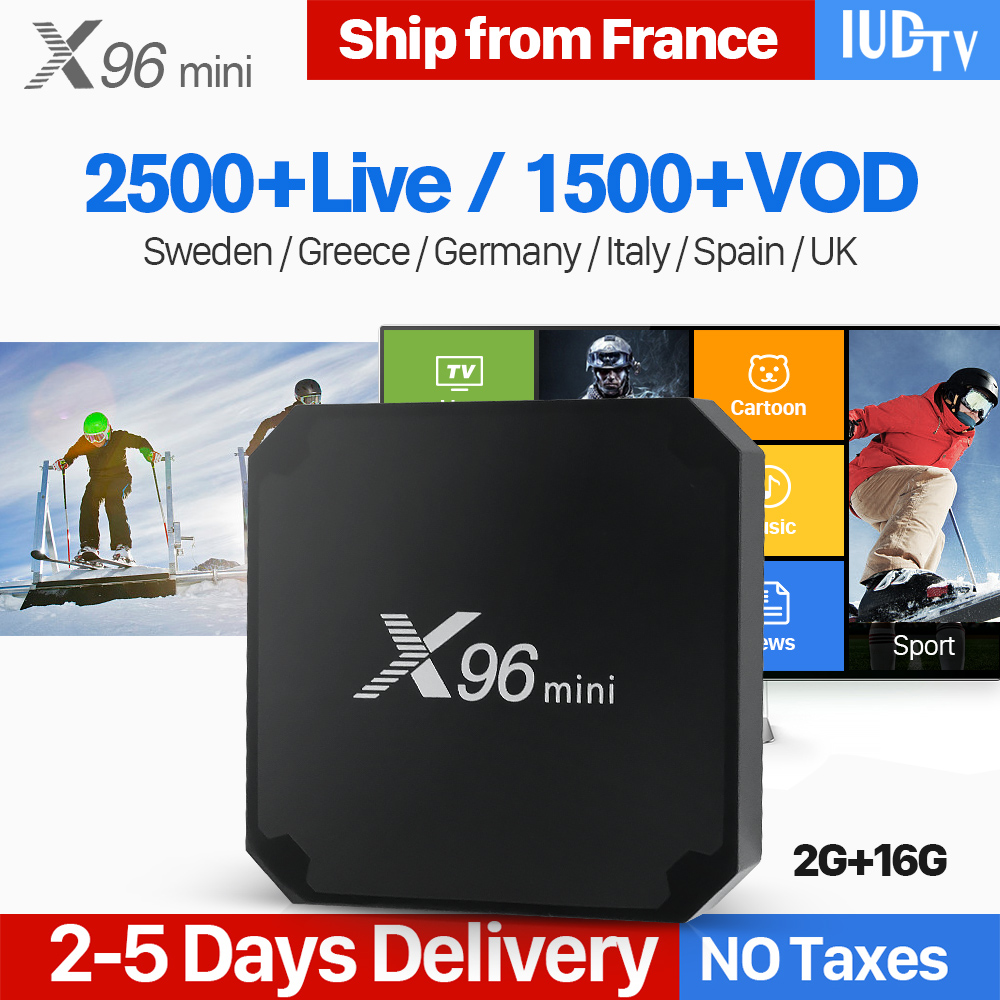 X96 Mini Europe IPTV Box Android 7.1 Iptv Box Amlogic S905W Quad Core X96Mini Swedish Germany Spain Italy Greek Uk IP TV greek albania iudtv iptv subscription 1 year iptv italy germany europe spanish turkish sweden amlogic s905w x96 mini tv box