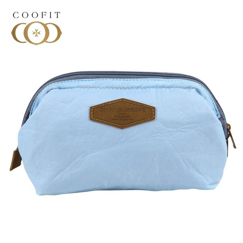 Coofit FresH Color Makeup Bag Casual Portable Purse Women Travel Pouch Clutch Handbag trousse de toilette 2018 neceser Organizer
