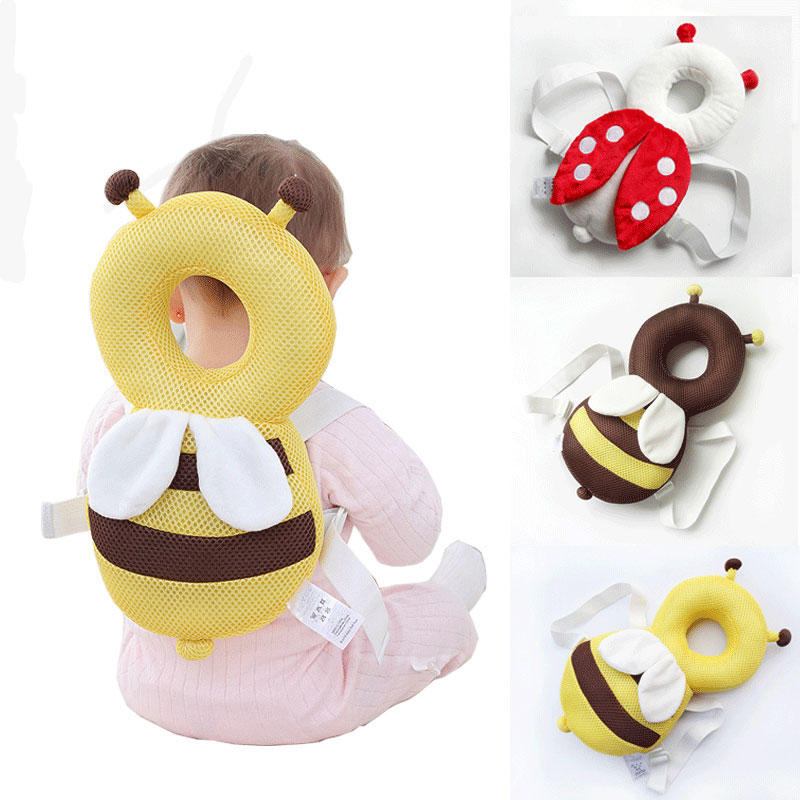 2020 Baby Head Protection Pad Infant Toddler Headrest Pillow Baby Neck Cute Wings Nursing Drop Resistance Cushion Head Protector