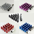 Car Auto Steel Rim Extended Open End Wheel Racing Lug Nuts With One Key M12X1.5 20pcs for Toyota Lexus is200 Supra Celica Aygo