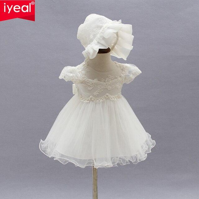der Verkauf von Schuhen Bestbewertete Mode beste website IYEAL Sommer Mädchen Kleider 1 jahr Geburtstag Prinzessin Baby Kleid Infant  Taufe für Neugeborenen Vestido Infantil