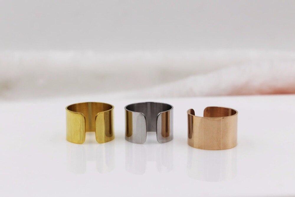 Moda salvaje de Corea del anillo abierto anillo Rosa oro color anillo para pareja regalo TYCR05