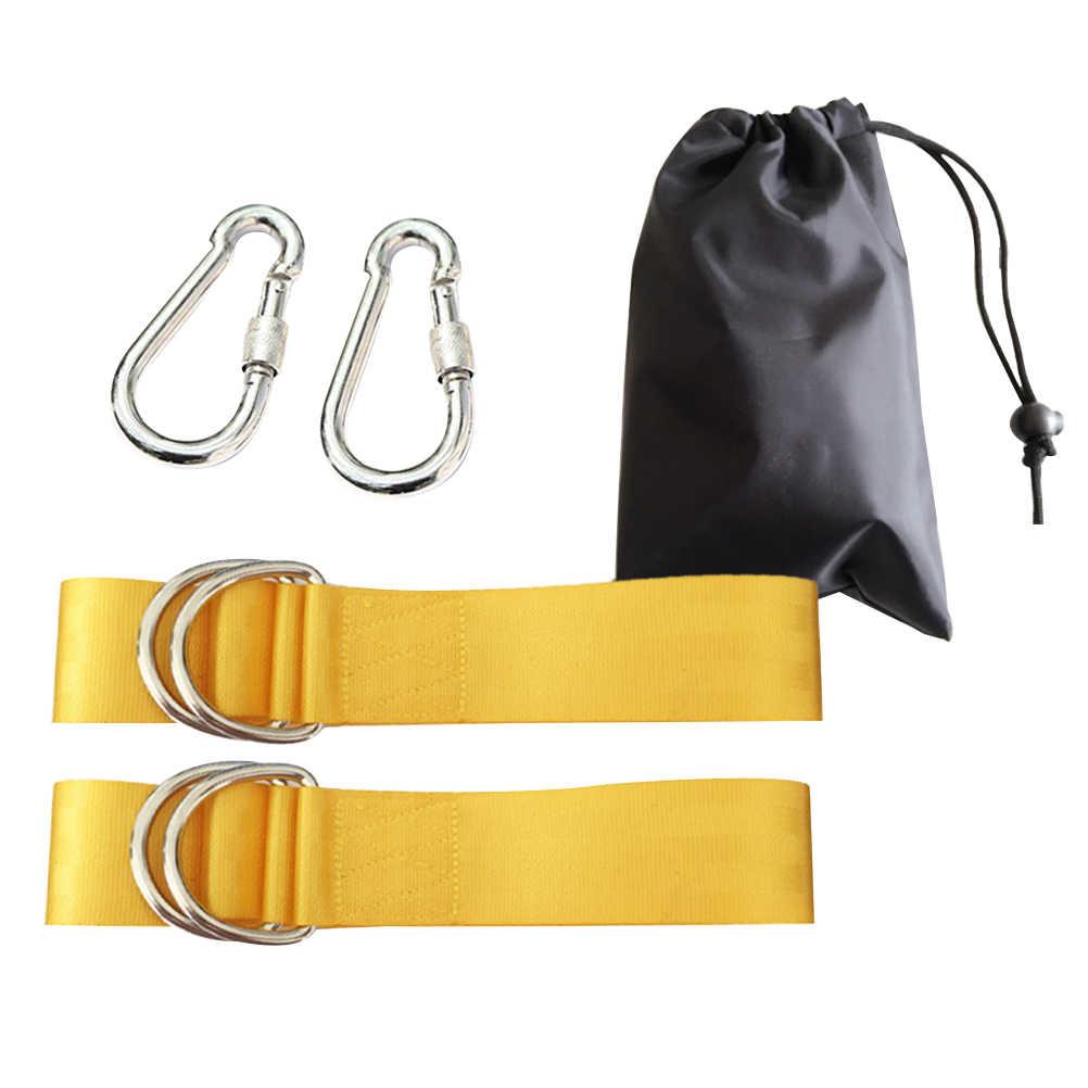 Безопасность качели Веревку Передачи качели и гамак подвесной комплект ремни с сверхпрочных крючков (желтый)