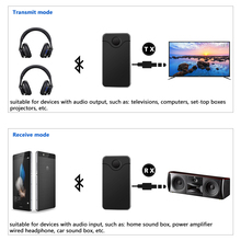 JEDX 2018 NEW B18 2in 1 Bluetooth Transmitter for TV Audio Wireless Transmitter and Receiver A2DP for TV Stereo Audio Adapter