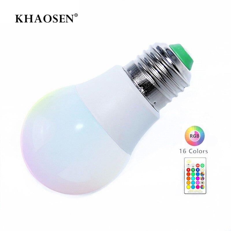 LED RGBW Bulb Light E27 B22 RGB LED Lamp 5W 10W 15W 85-265V 110V 220V + IR Remote Control 16 Color Change Christmas Lampada