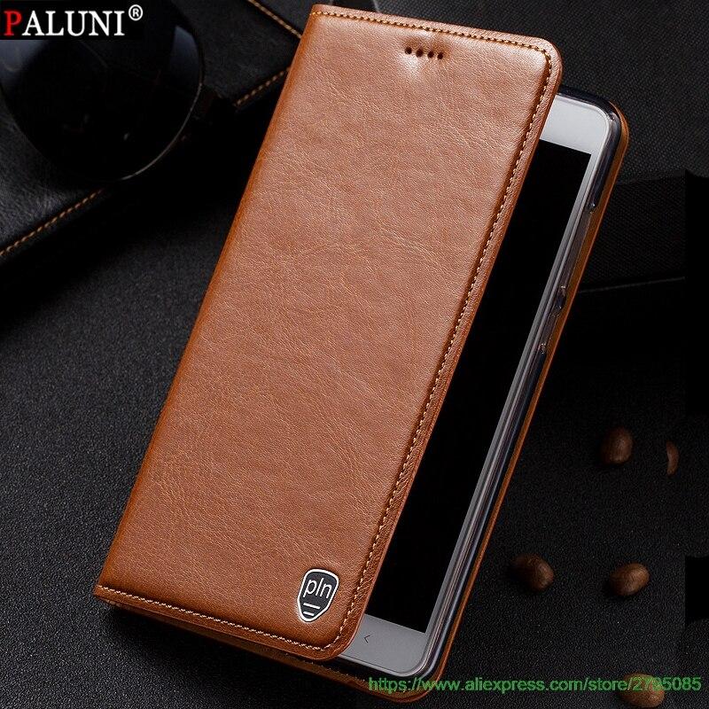 imágenes para Para una más 3 t de alta calidad de cuero genuino de lujo case cubierta para uno más 3 t flip función de horquillado + regalos gratis
